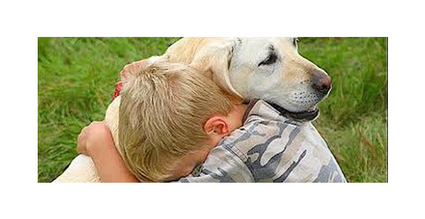 Kids Share Affection With Their Pet