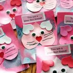 Valentine Pet Cards Made from Hearts